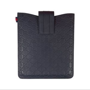 Gucci Navy Leather GG iPad Case